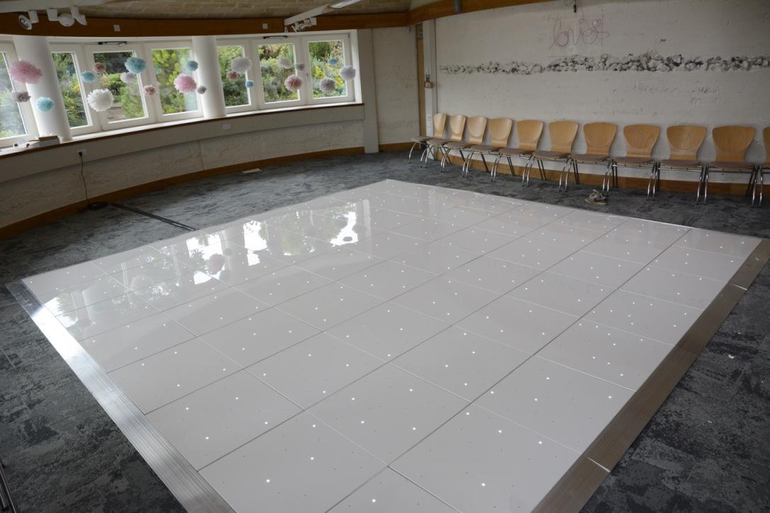 White LED Dance Floor for Hire